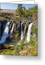 White River Falls In Tygh Valley Greeting Card