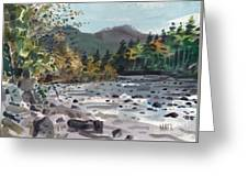 White River In Autumn Greeting Card