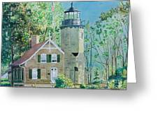 White River Light Greeting Card