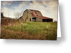 White River Trace Barn 2 Greeting Card