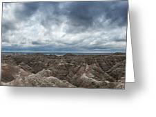 White River Valley Overlook Panorama 2  Greeting Card