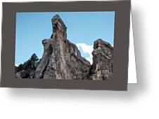 White Rock, Garden Of The Gods Greeting Card