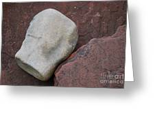White Rock On Red Rock Number 1 Greeting Card