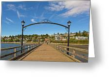 White Rock Pier In Bc Canada Greeting Card