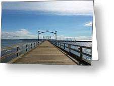 White Rock Pier Moorage In Bc Canada Greeting Card