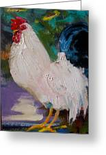 White Rooster Greeting Card
