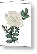 White Rose On A Winter Day Greeting Card