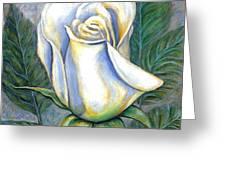 White Rose One Greeting Card
