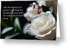 White Rose Expressions Of Love Greeting Card