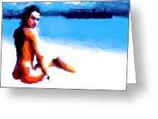 White Sand Greeting Card