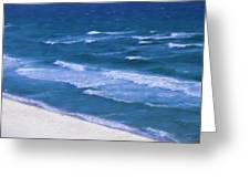 White Sand Ocean Waves Greeting Card