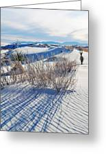 White Sands Shadows Greeting Card