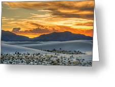 White Sands Sunset - 4 - New Mexico Greeting Card