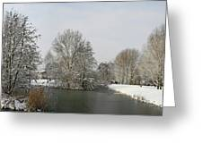 White Vision Around Canals Greeting Card