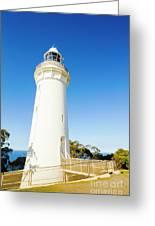 White Seaside Tower Greeting Card