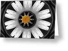 White Shimmering Flower Greeting Card