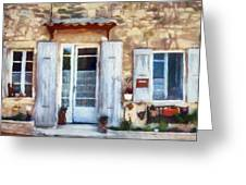 White Shutters Greeting Card