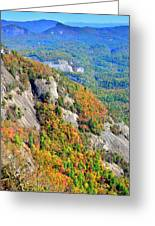 White Side Mountain Fool's Rock In Autumn Vertical Greeting Card