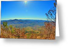 White Side Mountain Nantahala National Forest In Autumn Greeting Card
