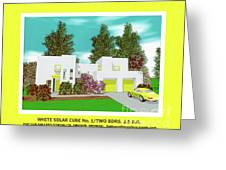 White Solar Cube Number One Greeting Card