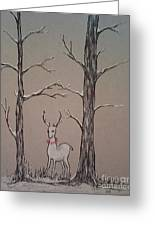 White Stag Greeting Card by Ginny Youngblood