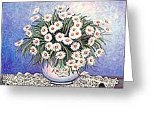 White Straw Flowers Two Greeting Card