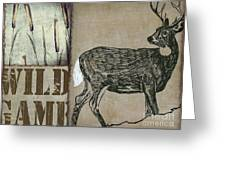 White Tail Deer Wild Game Rustic Cabin Greeting Card