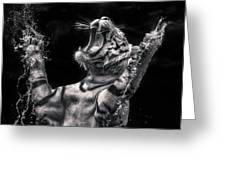 White Tiger Featured In Greece Exhibition Greeting Card