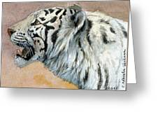 White Tigress Aceo Greeting Card