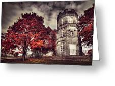 White Tower Of Autumn Greeting Card