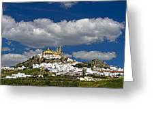 White Town Of Olvera, Andalusia, Spain Greeting Card