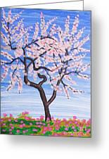 White Tree, Painting Greeting Card
