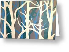 White Trees Greeting Card