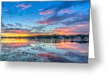 White Trout Lake Sunset - Tampa, Florida  Greeting Card
