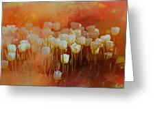 White Tulips Greeting Card by Richard Ricci