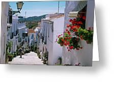 White Village Of Frigiliana Andalucia., Spain Greeting Card