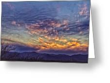 White Water Draw Sunset Greeting Card