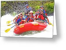 July In Oregon, White Water Rafting Greeting Card