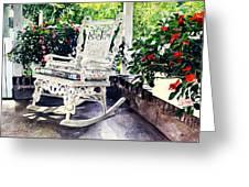White Wicker - Stockbridge Ma Greeting Card by David Lloyd Glover