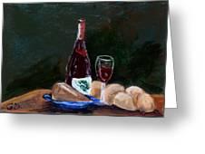White Wine Greeting Card