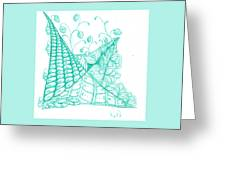 White Zen 26 Greeting Card