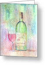 White Zinfandel Greeting Card