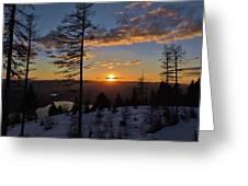 Whitefish Sunset Greeting Card