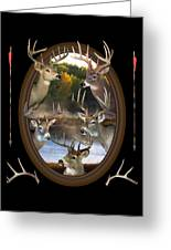Whitetail Dreams Greeting Card by Shane Bechler