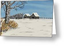 Winter Deer  Lookout Greeting Card