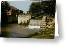 Whitewater Canal Locks Metamora Indiana Greeting Card