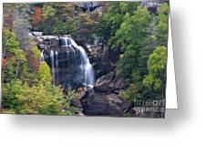Whitewater Falls In Nc Greeting Card