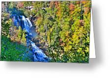 Whitewater Falls North Carolina Greeting Card