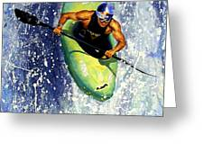 Whitewater Kayaker Greeting Card