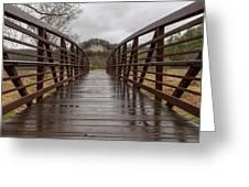 Whitewater Park Bridge Spring 4 Greeting Card